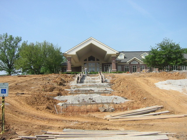Clubhouse Grand step during construction