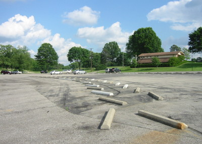 Standard Country Club, Parking Lot Before Improvements